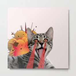 CAT ATTACK! Metal Print
