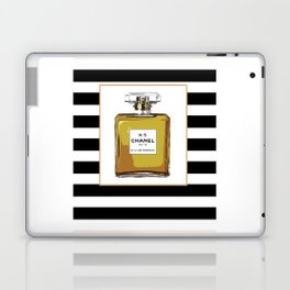 Fashion Art French Decor Fashion IllustrationPrint Perfume,Perfume Print Coco Mademoiselle Fashionis Laptop & iPad Skin