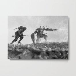 Okinawa Running Sniper Metal Print