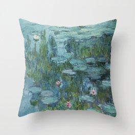Water Lilies 2 Throw Pillow
