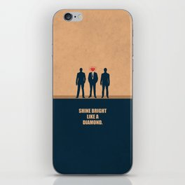 Lab No. 4 - Shine Bright Like A Diamond Corporate Startup Quotes iPhone Skin