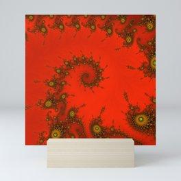 Red fractal. Abstract pattern Mini Art Print