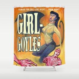 """Girl-Goyles"" Movie Poster Shower Curtain"