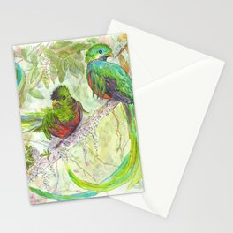 Emerald feathers Stationery Cards