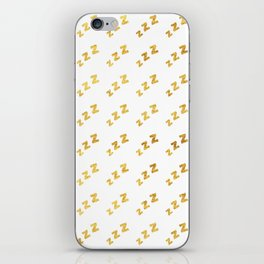 Zzzs Pattern in Gold iPhone Skin