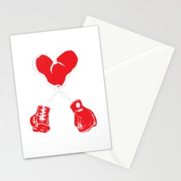 Boxing Boxer Valentines Day Heart Fight  Stationery Cards