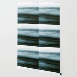 WHITE & BLUE & BLACK TOUCHING #4 #abstract #decor #art #society6 Wallpaper