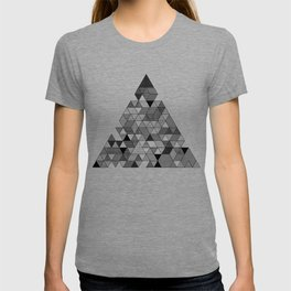Black and White Triangle Pattern T-shirt