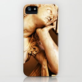 Statue thoughtful iPhone Case