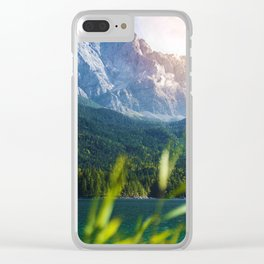 Grass Mountain View (Color) Clear iPhone Case