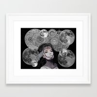 bjork Framed Art Prints featuring Bjork by Luna Portnoi