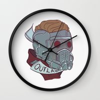 starlord Wall Clocks featuring Outlaw by Charleighkat