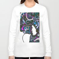 techno Long Sleeve T-shirts featuring Purple Techno by Madison R. Leavelle
