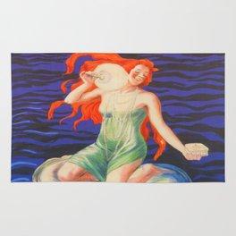 Poudre de Perles Fines Vintage Poster Rug