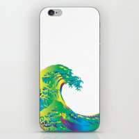 hokusai iPhone & iPod Skins featuring Hokusai Rainbow_A by FACTORIE