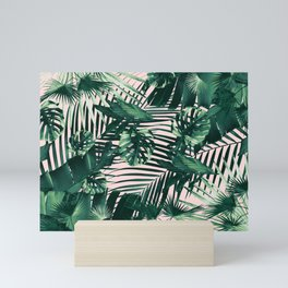 Tropical Jungle Leaves Siesta #3 #tropical #decor #art #society6 Mini Art Print