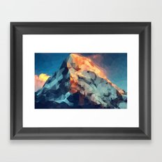 Mountain low poly Framed Art Print