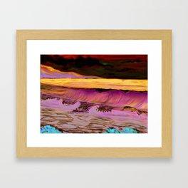Ocean Waves Print from Original Oil Painting Framed Art Print