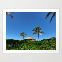 Bahamian Tropical Tiki Hut Art Print