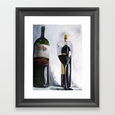 one down, one to go. Framed Art Print