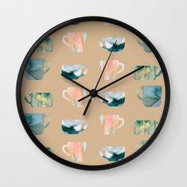 Cups of coffee Wall Clock