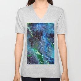 Galaxy (blue/green) Unisex V-Neck
