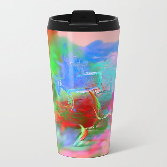 Fantasy World Metal Travel Mug
