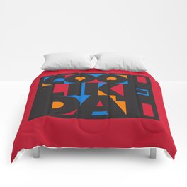 Cool Like Dat - Red Comforters