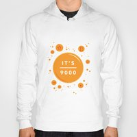 dragonball Hoodies featuring IT'S OVER 9000 (Dragonball) by Jacob Waites
