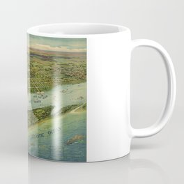 Panoramic view of West Palm Beach, North Palm Beach and Lake Worth, Florida (1915) Coffee Mug