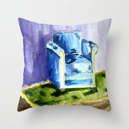 Sad Chair Throw Pillow
