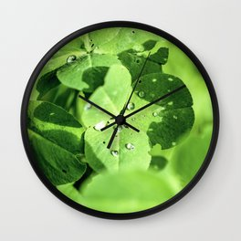 Live In Clover Wall Clock