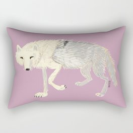 Wolves of The world: Artic Wolf (Canis lupus arctos) (c) 2017 Rectangular Pillow