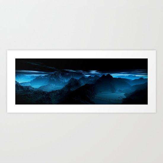 Dark Valley Art Print