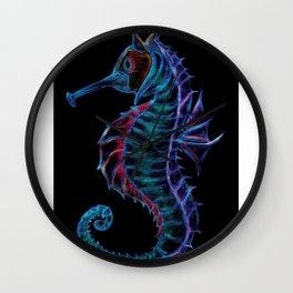 Blackened Seahorse Wall Clock