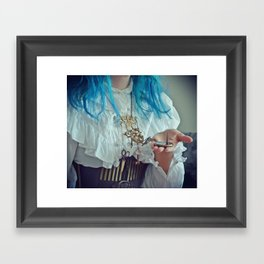 """Steampunk """"Chatelaine"""" Necklace II Framed Art Print"""