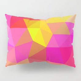 Citrus Candy Low Poly Pillow Sham
