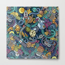 Space Squigles Metal Print