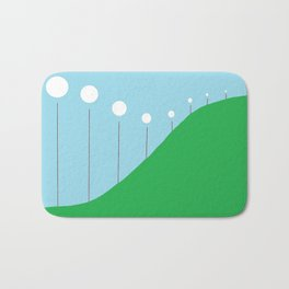 Abstract Landscape - Lights on the Hill Bath Mat