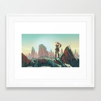 brand new Framed Art Prints featuring Brand new world by LaurenceBaldetti