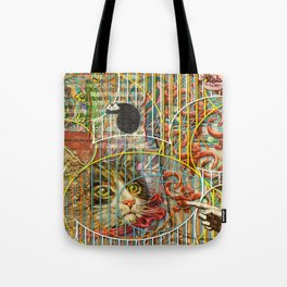 Prioritizing the Preservation of Favoured Struggles: Our Mesmerizing Bucket of Worms Tote Bag