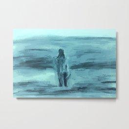 Ocean Swim, Blue Metal Print