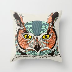 OWLBERT Throw Pillow