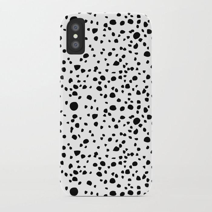 Postmodern Granite Terrazzo Large Scale in White + Black iPhone Case