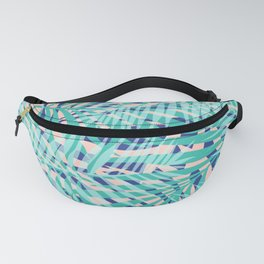 Hawaii, Palms Print, Teal, Blue and Pink Fanny Pack