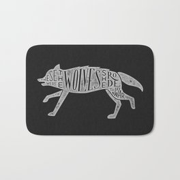 These Were The Wolves She Rode to War - Wolf by Wolf Bath Mat