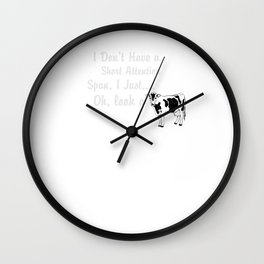 Cow Short Attention Span Wall Clock