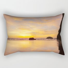 The Cliff At Moonstone Rectangular Pillow
