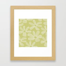 Katalin, lacy daisy in light kaki Framed Art Print