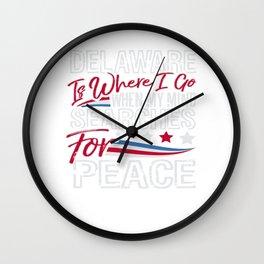 Delaware American Patriotic Memorial Day Wall Clock